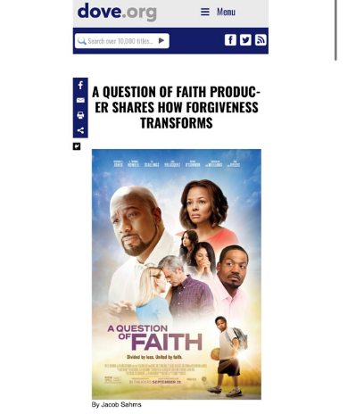 Dove.org on 'A Question of Faith'